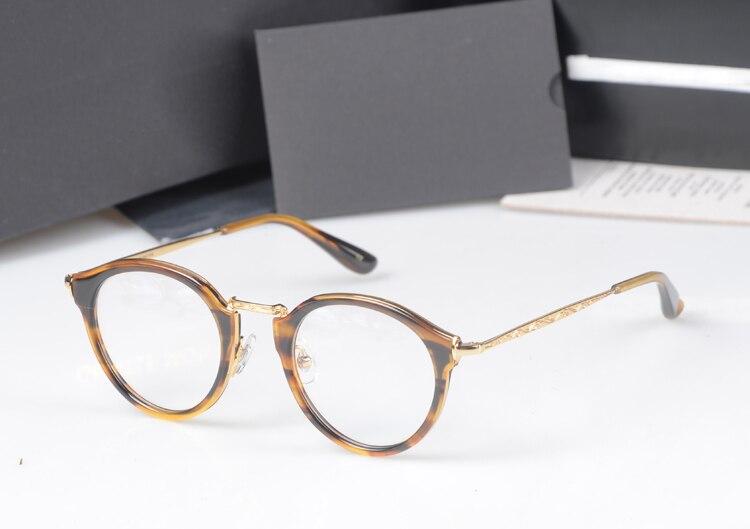 HOT 2017 corée marque de mode ronde prescription lunettes cadres Vintage optique myopie femmes et hommes monture lunettes avec boîte