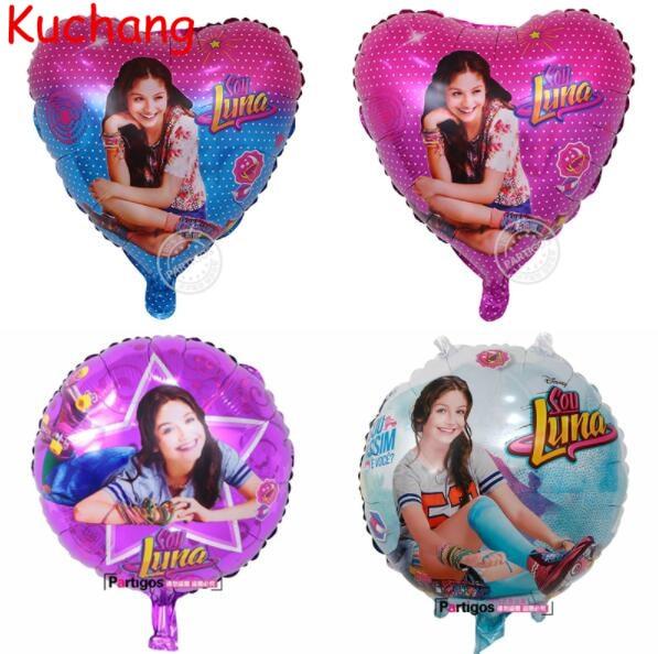 50 шт./лот 18 дюймов круглый соевый Luna гелий воздушный шар из фольги девочек игрушки д ...