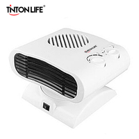 TINTON LIFE White Red 180 Degree Rotating Fan Mini Heater Air Conditioner 220V Electric Warmer EU