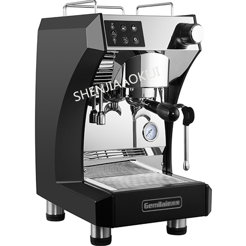 Italian coffee machine 1.7L Steam Double Boiler Double Pump Full semi-automatic stainless steel coffee machine 220V 2700W double hopper stainless steel semi automatic food chemical particle filling machine