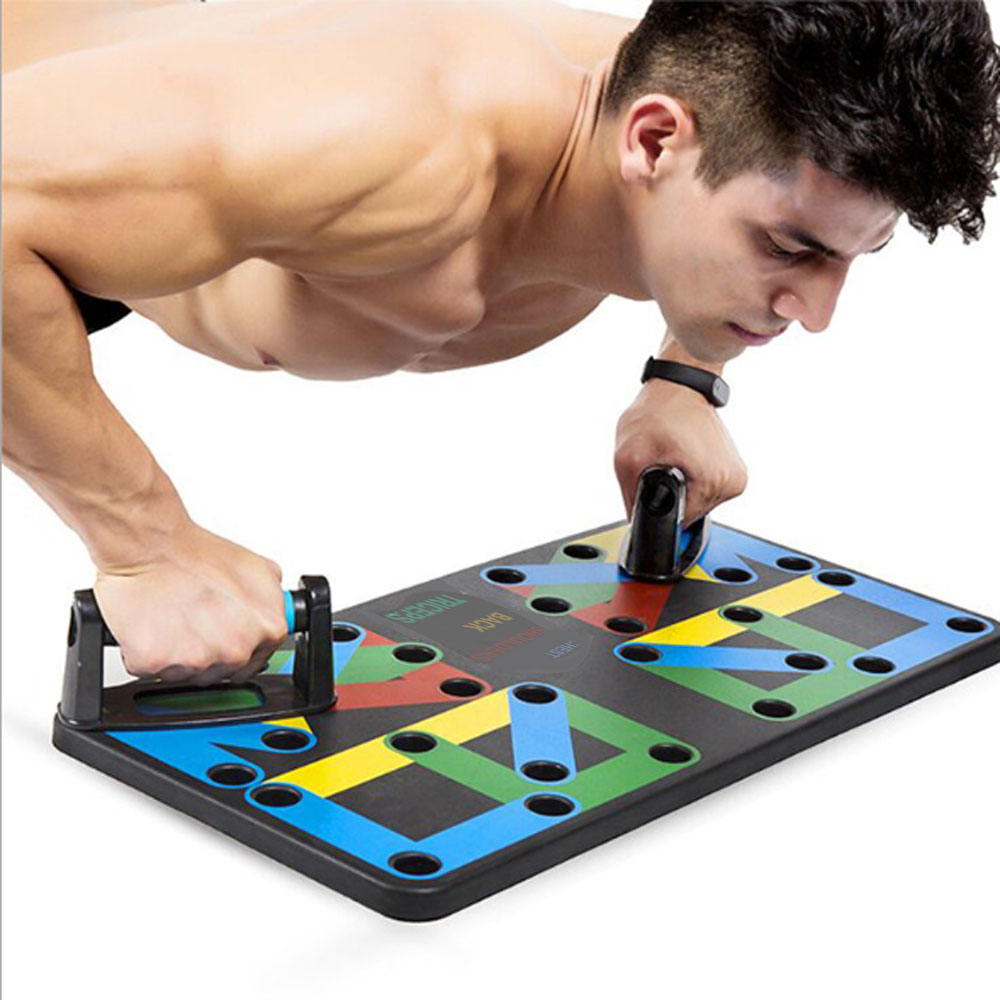 Household push up rack board multifunction 9 system comprehensive fitness exercise workout pectoral muscle training