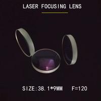 Weimeng 레이저 초점 렌즈 10 pcs 38.1*9mm f = 120 jgs1 석영 소재 1064nm 코팅 plano-convex for laser welding machine