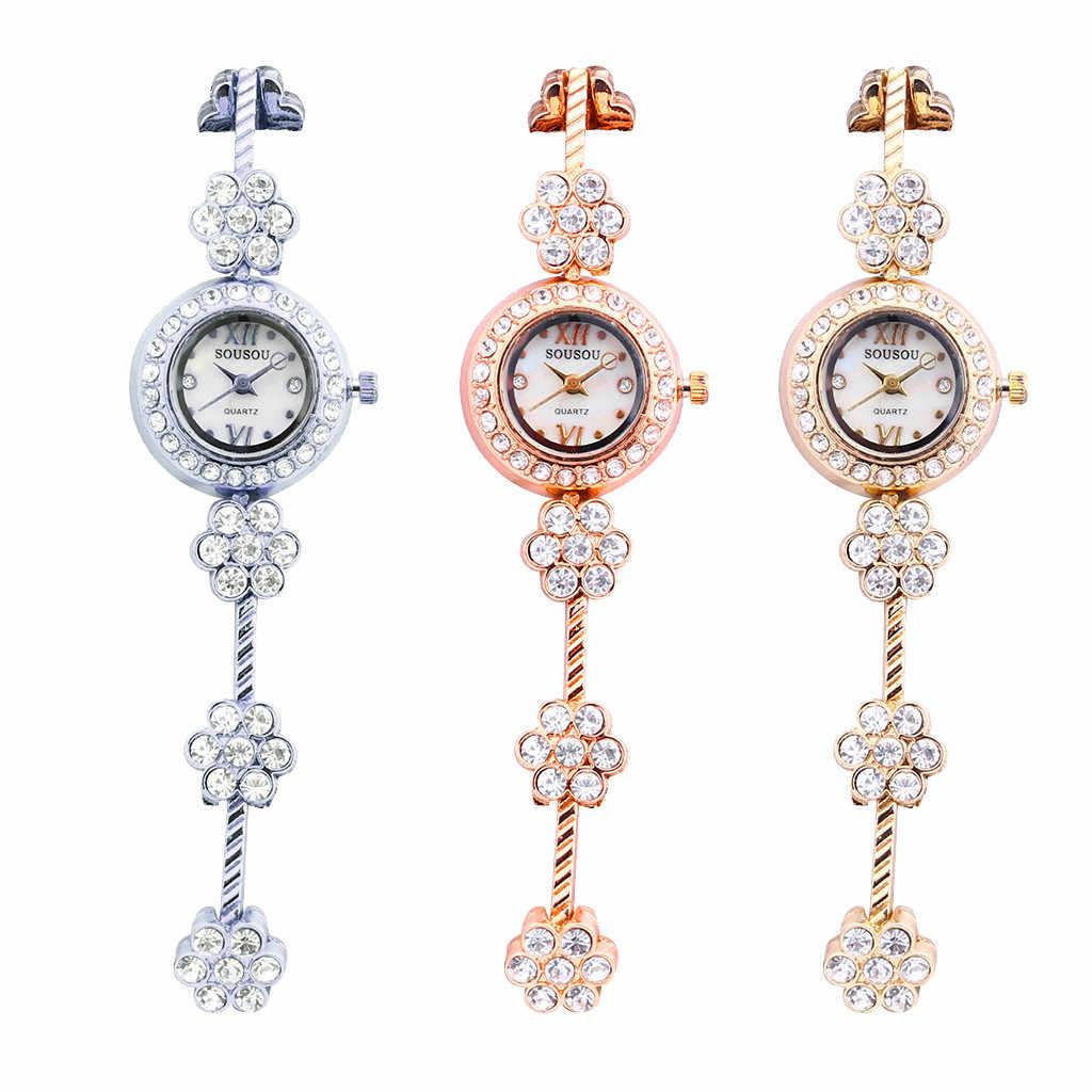 למעלה מותג יוקרה שעון 2019 relogio masculino אופנה גבירותיי נשים שעונים נירוסטה ריינסטון קוורץ שעון יד