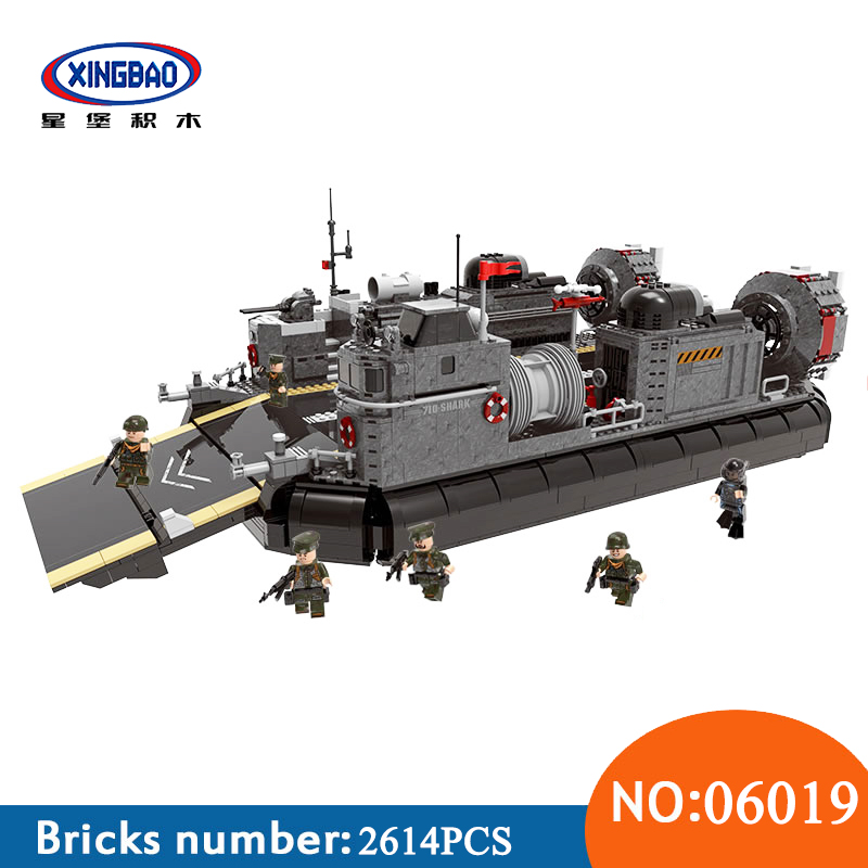купить Xingbao 06019 WW2 Military Series The Amphibious Transport Ship Sets legoinglys Building Blocks Bricks Funny toys For Cheldren