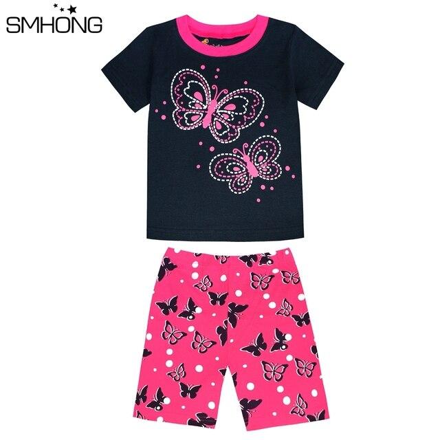 4afd0e956 SMHONG Summer Short Sleeve Kids Pajamas 2 8 Years Sleepwear For ...