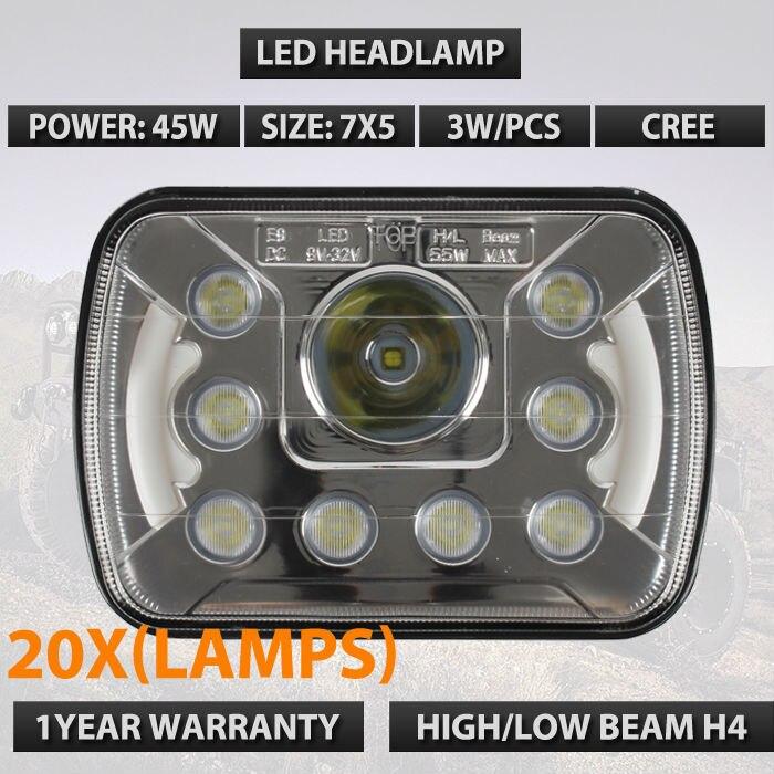 20шт/много 7х5 светодиодные фары HID свет лампы XDR9 прозрачный запечатанный пучка фар ж/ДХО