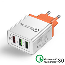 Top New 18 W USB Quick charge 3.0 5V 3A for Iphone 7 8 EU US Plug Mobile Phone Fast charger charging for Samsug s8 s9 Huawei 3 usb quick charge 3 0 5v 3a eu us for iphone 7 8 eu us plug mobile phone fast charger charging for samsug s8 s9 xiaomi note 7