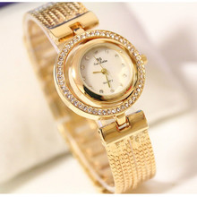 New Hot-Selling Watch High-End Womens Custom Full Rinestone Round Chain
