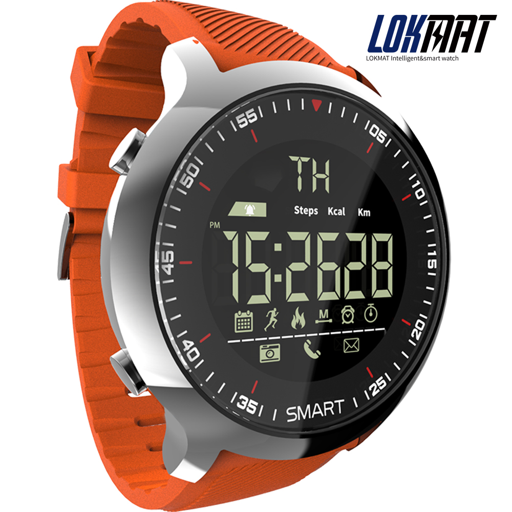 lokmat MK18 Smart Watch Sport LCD Waterproof Pedometers Message Reminder BT Swimming Men Smartwatch Stopwatch for ios Android(China)