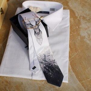 Image 1 - Free Shipping New fashion male mens casual Original handmade wedding party birthday unique tie printed necktie host Western