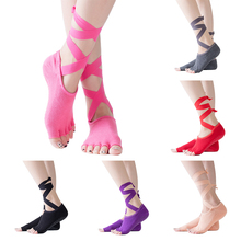 1 pair toe Yoga socks women sport yoga 5 exercise massage cotton pilat