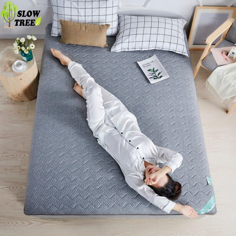 Lent Forest 21% naturel Latex reine matelas Tatami tapis 2cm épaisseur tricoté coton étudiant dortoir lit tapis sans oreiller