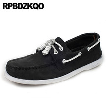 Мужская обувь черного цвета больших размеров, брендовая Повседневная модная замшевая обувь из коровьей кожи, на шнуровке, высокого качества, роскошная дизайнерская обувь для вождения 11