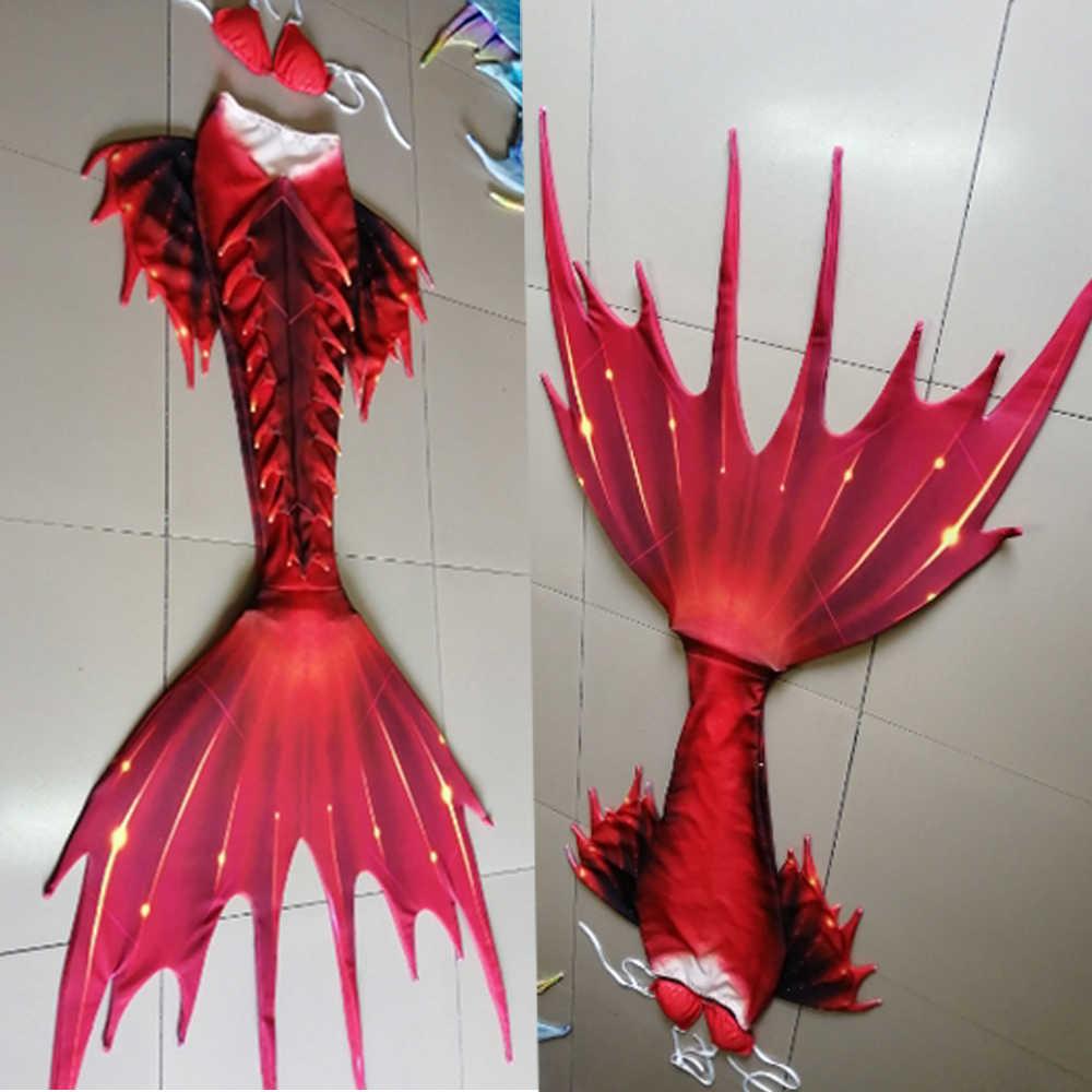 ที่กำหนดเอง 2019 ใหม่เครื่องแต่งกาย Swimable Mermaid Tails Monofin สำหรับผู้หญิงหญิงว่ายน้ำ Mermaid คอสเพลย์เครื่องแต่งกายชายหาด Artifact