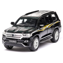 1:32 Toyota Land Cruiser Child pull-back vehicle simulation alloy car model crafts decoration collection toy tools 1 18 diecast model for toyota land cruiser fj140 1977 yellow alloy toy car miniature collection gift