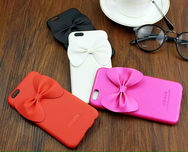 For iphone 6s 6 Plus Lady Girl Women Lovely butterfly Bow tie back Skin  Cell Phone Case Cover For iphone 6 6s Plus 4.7 5.5 inch b99ea16fd9