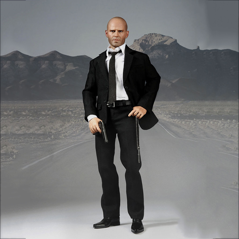 1/6 Scale Jason Statham Suits Head body Clothes Set Action Figure for Collections 1 6 scale resident evil 6 leon scott kennedy full set action figure for collections