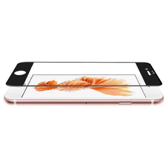 9H 3D منحني ألياف الكربون لينة حافة الزجاج المقسى لفون 6 6S زائد الهاتف واقي للشاشة فيلم ل فون 7 8 x