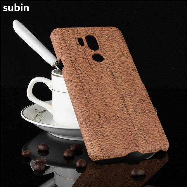 new styles f6799 cba34 US $3.12 11% OFF|for LG G7 G 7 ThinQ G710 Phone Case Bumper PC Plastic PU  Leather Cover for LG G7 LGG7 Wood Cases-in Fitted Cases from Cellphones &  ...