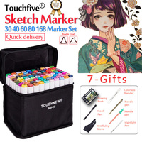 Touchfive 30 40 60 80 168 Twin Sketch Marker Pen Set Color Markers Copic Ciao Brush