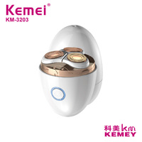 Kemei 5W Electric Shavers For Men and Women USB Rechargeable Beard Razor Waterproof Wet Dry Shaving Machine Double Ring 3D Blade
