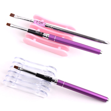 Acrylic 5 Grid Pen Rest Holder Stand Display Tool Simple Manicure Tool Nail Art Brushes Pen Holder Shelf NPY