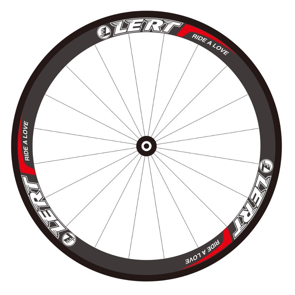 Nouveau LERT 700C 50mm vélo de route 3 K UD 12 K jantes tubulaires en carbone complet vélo carbone roues 20.5/23/25mm largeur plaquettes de frein livraison gratuite