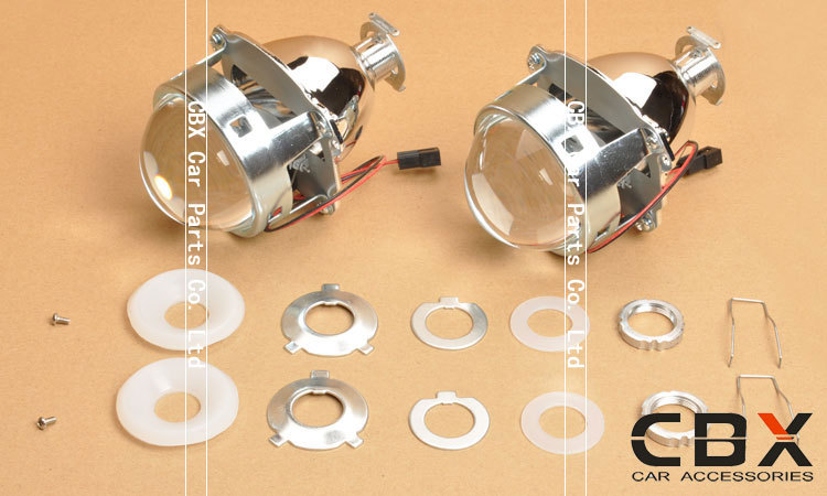 3.0 WST Bi Xenon Lensa Proyektor Jenis Perak Mengkilap Menggunakan - Lampu mobil - Foto 3