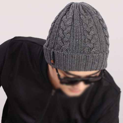 67291e06315 IMC ZIYI Man Beanies Crochet Hats Warm Wool Knit Hat Turban Knitted Hat  Dark Gray-in Berets from Women s Clothing   Accessories on Aliexpress.com