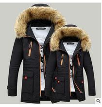 2017 осень и зима утолщение теплой шерсти воротник хлопок одежда мужская хлопок длинный абзац пара хлопок мужчины зимняя куртка j