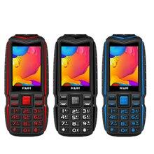 Дешевый прочный внешний аккумулятор KUH T3, большая батарея, 2,4 дюймов, двойной фонарик, мобильный телефон, один ключ, циферблат, Bluetooth, fm-радио, мобильный телефон