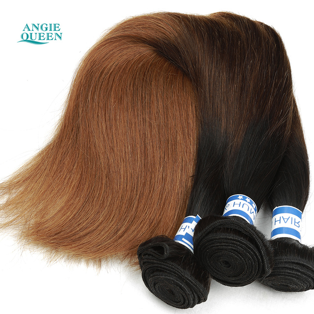 Ombre Hair Extensions Chinese Virgin Straight Hair 3 Tone Color