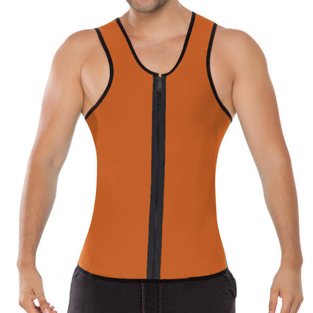 0a48acf5f8 Online Shop Men Green Latex Zipper Weight Vest Body Shaper Wear Plus size 2XL  Mens Bodysuit Corsets for men roupa interior
