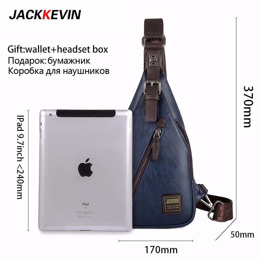JackKevin Mäns Mode Crossbody Bag Stöldskyddad Roterbar Knapp - Handväskor - Foto 2