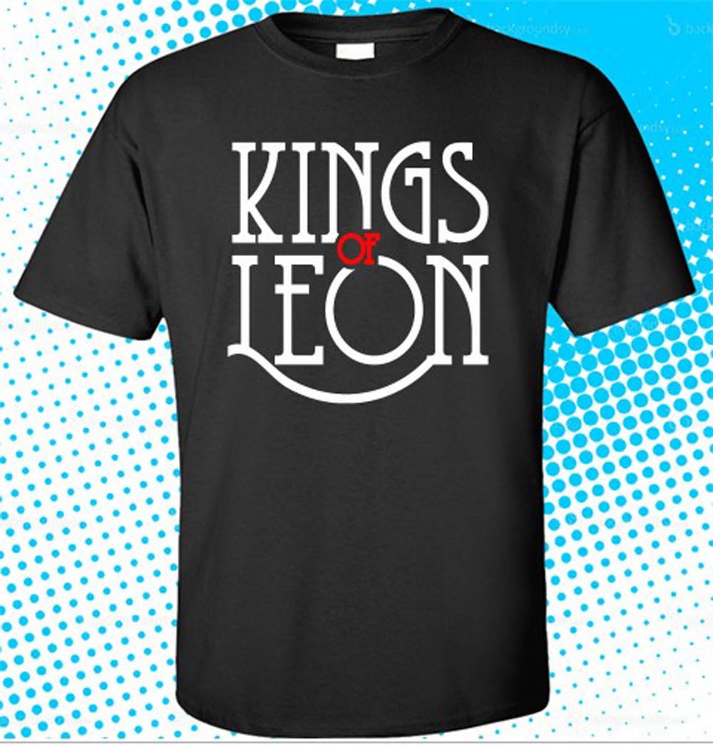 Cool Tee Shirts Crew Neck New Kings Of Leon Rock Band Logo Men's Black T-Shirt Size S To 3XL Short Printing Shirt For Men