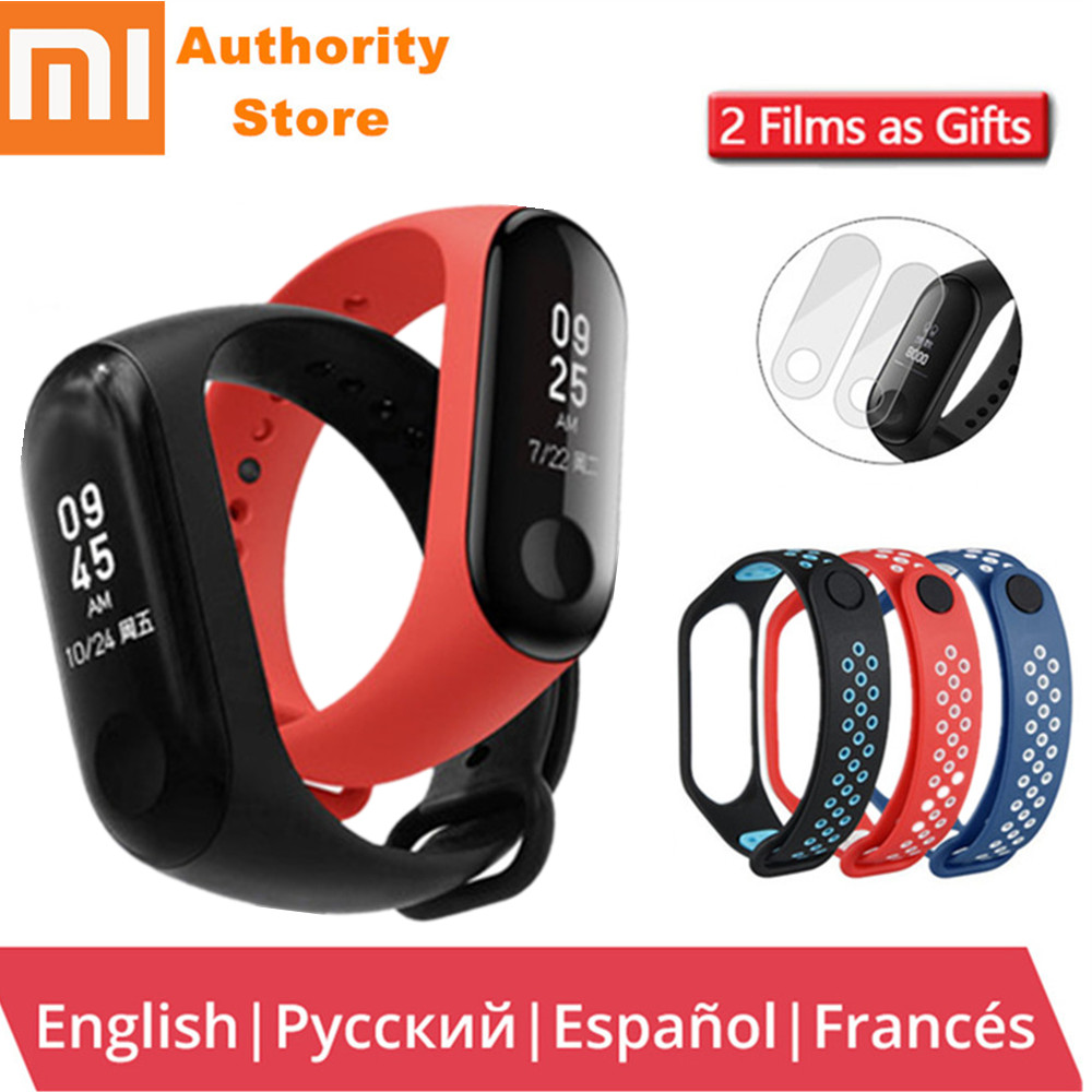 Original Xiao mi mi Band 3 mi band 3 Smart Tracker Band Bluetooth mi fitness uhr herz RateOLED Touchpad Fitness aktive armband