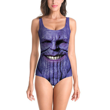 Sexy 3D Swimsuit One Piece Women Swimwear Thanos Marvel Avengers Bathing Suit Cosplay Costume Printed Beach Suit Monokini Bikini new 1090 sexy girl summer comic avengers superman superwoman 3d prints sleeveless one piece swimsuit swimwear women bathing suit