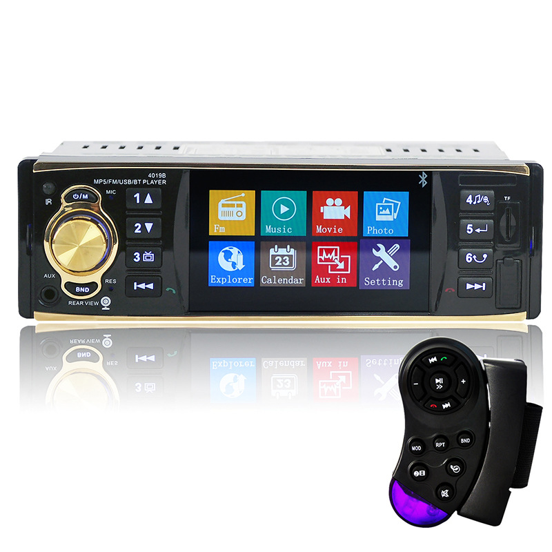 4.1 Inch Car MP5 HD Player TFT Screen  Digital Bluetooth  Stereo Support USB/SD/FM Radio with Steering Wheel Remote Control 12v 4 1 inch hd bluetooth car fm radio stereo mp3 mp5 lcd player steering wheel remote support usb tf card reader hands free