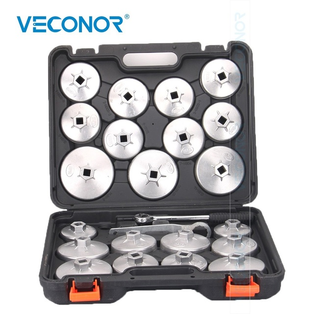 Veconor Oil Filter Removal Tool Oil Filter Wrench keys Set High Torque Universal Wrench Spanner Workshop Tools