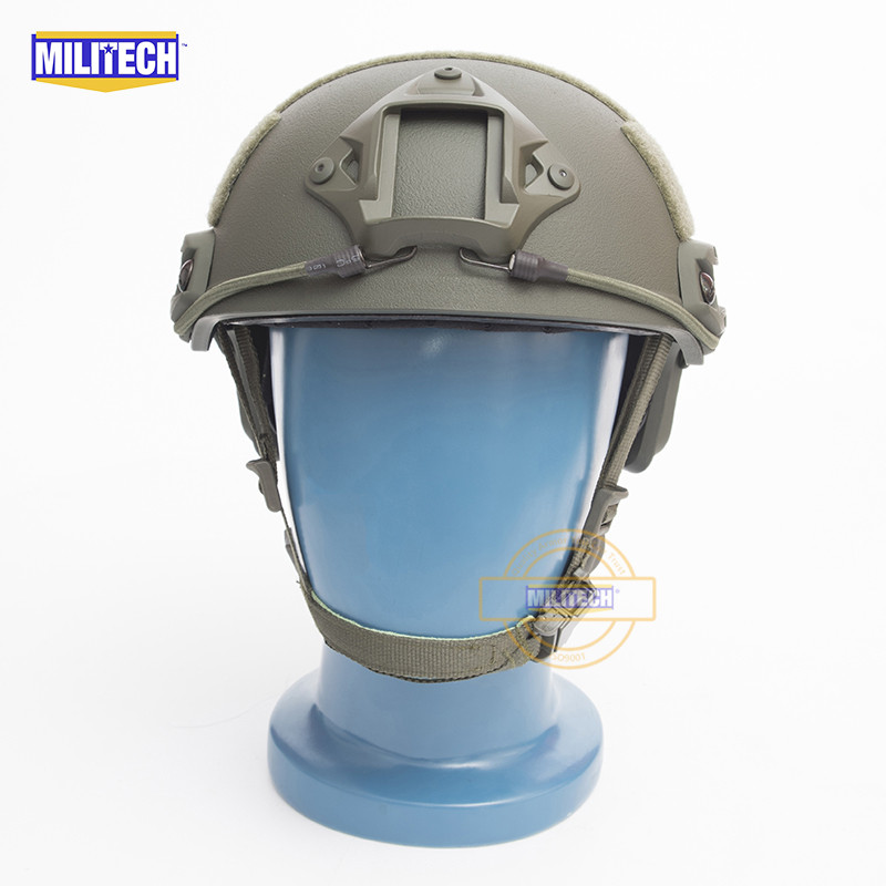 MILITECH FAST OD Green FA Style Super ABS Airsoft Tactical Helmet Ops Core Style High Cut Training Helmet Super Tough Quality 2015 new kryptek typhon pilot fast helmet airsoft mh adjustable abs helmet ph0601 typhon