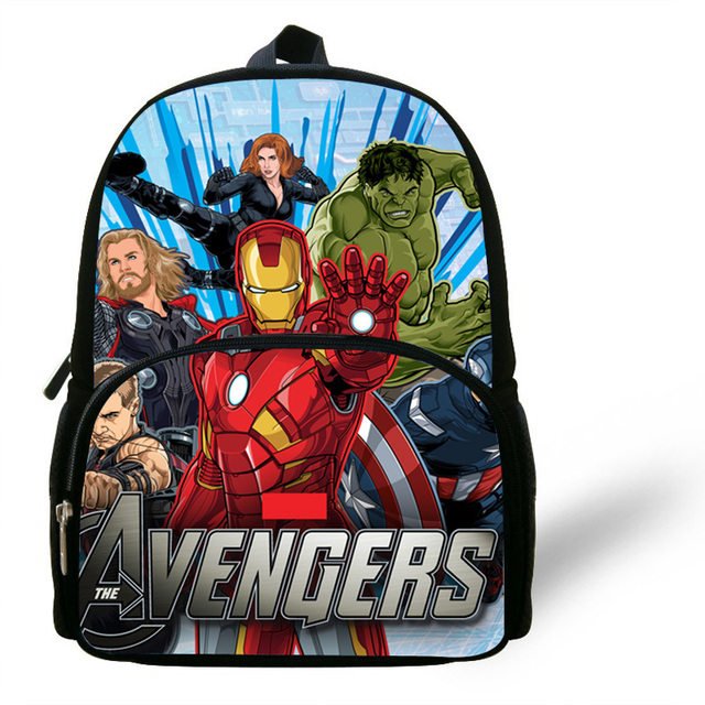 12-inch New Style Super Hero Backpacks For Baby Boys Girls The Avengers  Backpack For Kindergarten Kids Preschool Bags a723acfff39e6