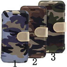 For iPhone 6S Case Multi-functional Army Camouflage Phone Cases Flip Card Holder Stand for Can Be Split