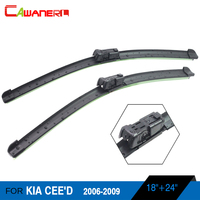 Cawanerl 1 Pair Car Windshield Wiper Blade Auto Soft Rubber Windscreen Wiper For Kia CEE D