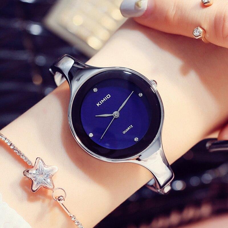 100% Kimio Relojes Mujer Wristwatch Bracelet Quartz Watch Woman Ladies Watches Clock Female Dress Relogio Feminino For Women relojes mujer 2016 new fashion women brand kimio watches casual ladies dress steel bracelet analog quartz watch relogio feminino