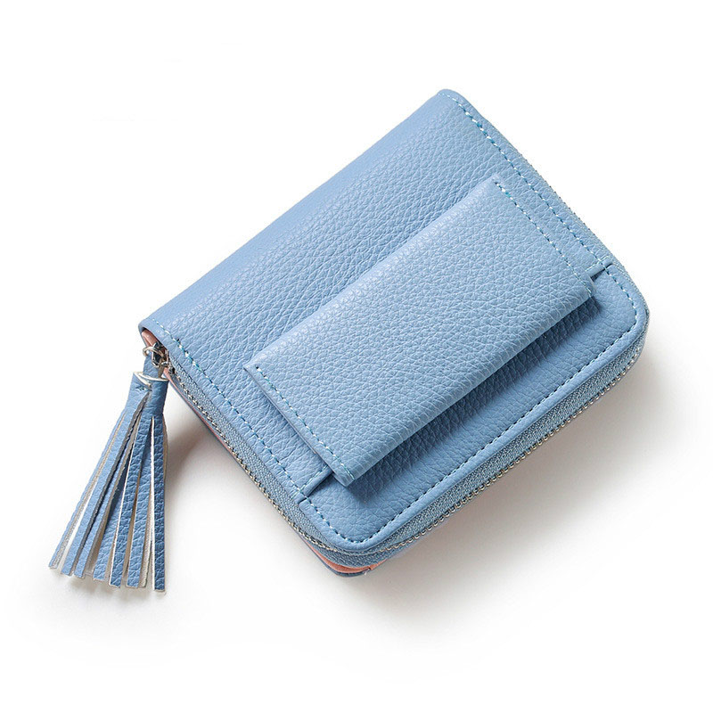 Fashion Short Wallet Women With Hasp zipper Wallet Small Tassel  Female Mini Coin Purse Business Card Holder Bags Case european and american style tassel knitting short wallet women clutch purse pu leather ladies hasp coin bags female card holder