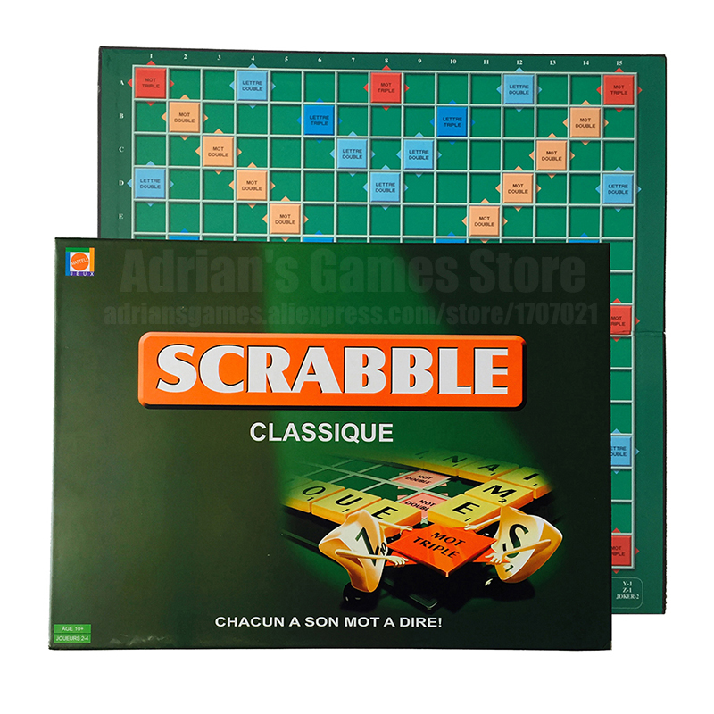 France Scrabble Board Games For Kids And Family 102-Letters Board Game In French Children French Learning Toys Jeux De Societe