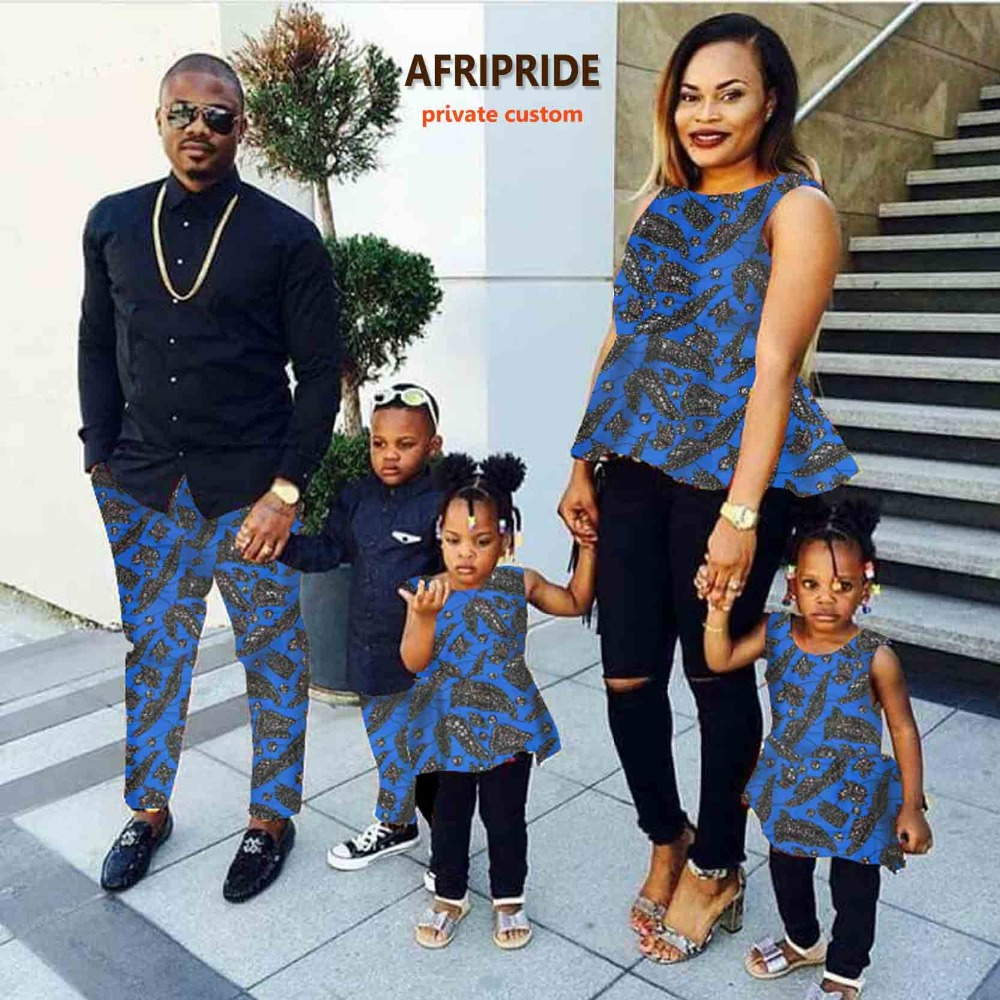 African couple clothes dress for women with kids skirt ...