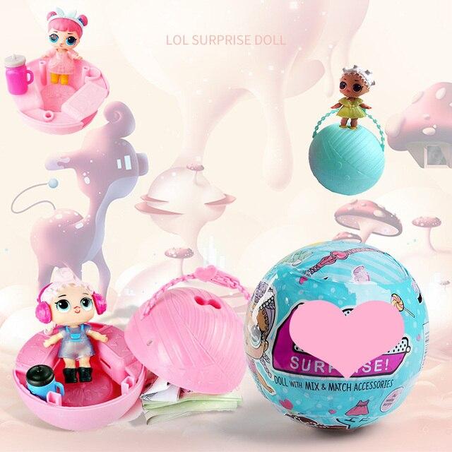 Забавные игрушки 9.5 см LOL Куклы случайный Наряжаться маленьких разорвать Цвет Изменение Яйцо кукла Серия 2 в шары игрушечные лошадки для Обувь для девочек фигурки