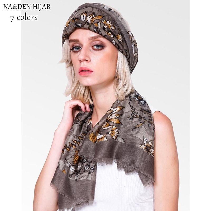 NEW flower print hijab scarf muslim scarfs long pashmina style fashion women scarves shawls brand wrap