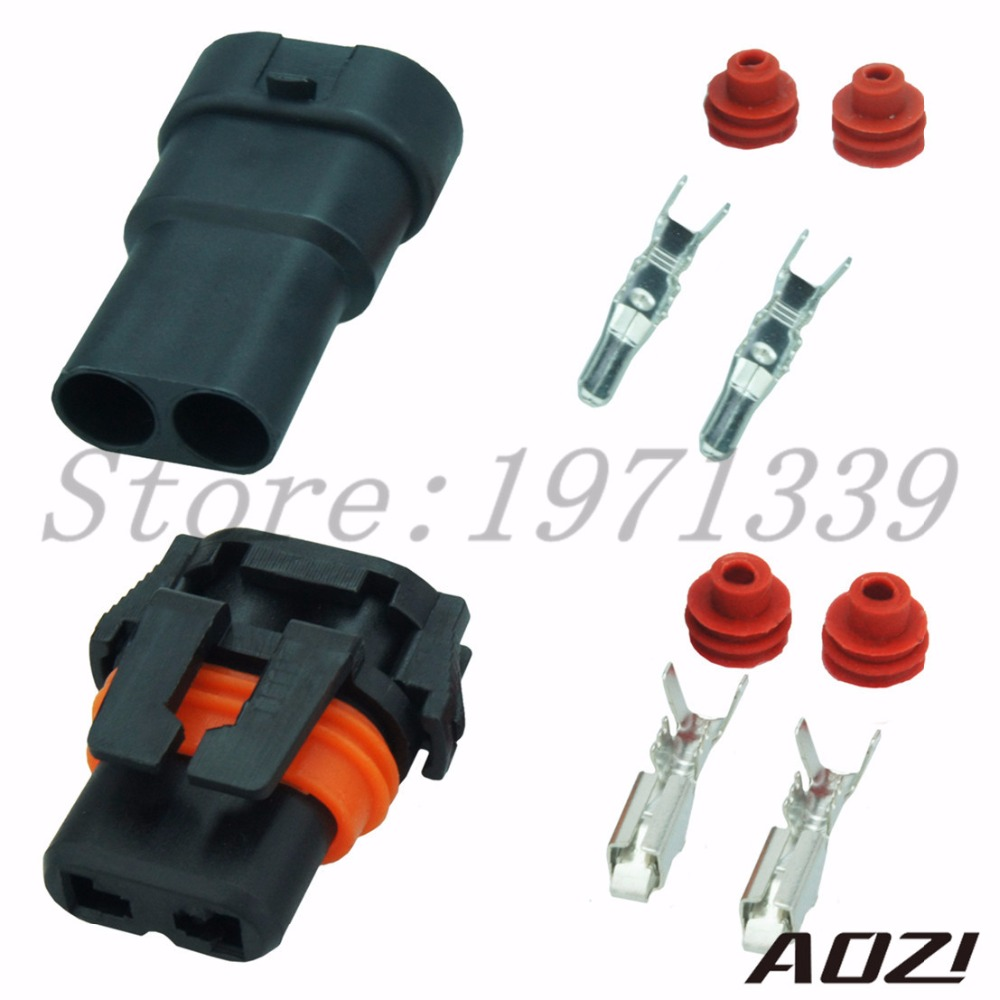 10 Sets Kit Electrical Connector Waterproof Male Adapter